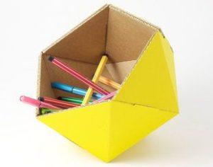 boite rangement crayon en papier
